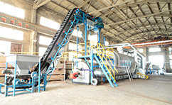 Fully continuous waste tyre(plastic)pyrolysis plant