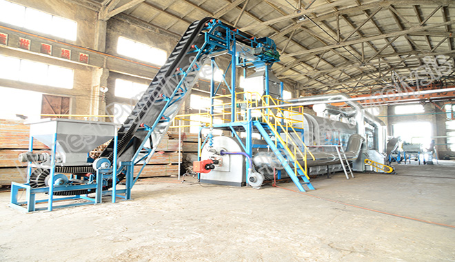 15T fully continuous waste tyre(plastic) pyrolysis plant