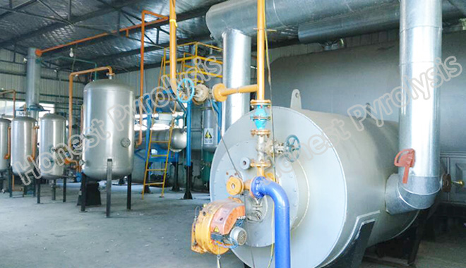 8T Semi continuous waste tyre(plastic) pyrolysis plant