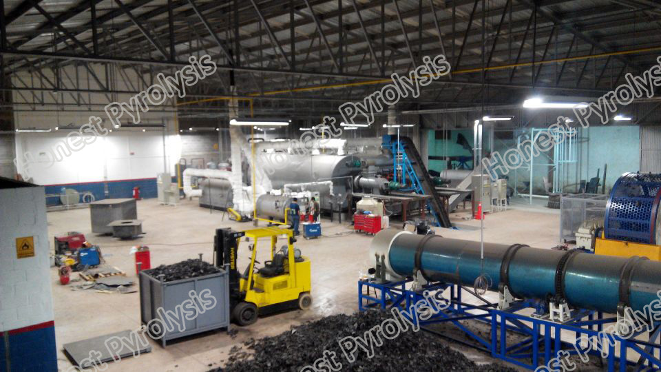 16T Semi continuous waste tyre(plastic) pyrolysis plant